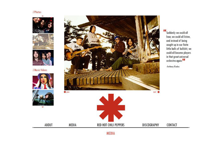 red hot chili peppers web
